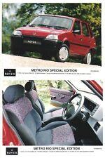 Rover Metro Rio x 2 Original colour Press Photos 335-6