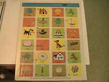 Vintage1968 Whitman Frame Tray Puzzle - Help Yourself Rhyming Words MINT NIP