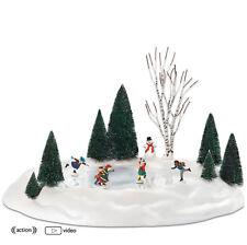 Dept 56 ANIMATED SKATING POND 801130  NEW D56 Christmas Village Accessory NIB