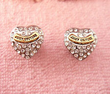 Auth  Juicy Couture Pave Heart Stud Earrings $45