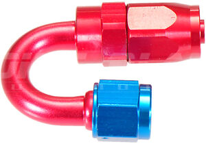 AN-6 180 Degree Hose End Fitting for Braided Hose