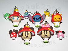 Yujin Disney Mickey Stitch Mushroom keychain Figure Gashapon (full set 5 pcs)