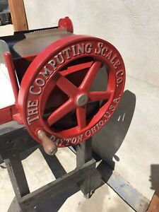 The Computing Scale Co. Slicing Machine vintage meat slicer Berkel Dayton Ohio