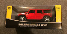 BRAHA HUMMER RED 1/24 FRICTION DRIVE  BOXED new