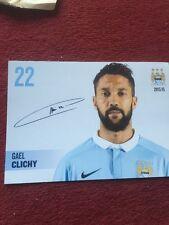 Gael Clichy Signed Photo Man City Print