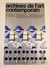 AFFICHE JEAN WIDMER ARCHIVES DE L'ART CONTEMPORAIN CNAC