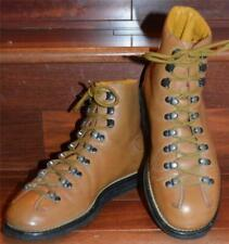 RARE Prada Italy Tan Calf Leather Winter Military-Style Ankle Hiking Boots 6.5