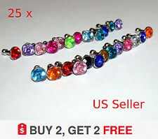 25 X-  Bling Diamond Mixed Crystal 3.5mm iPone Earphone Jack  Dust Plug Cap