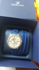 Brand New Swaroviski Aila Day Double Tour Blue Stainless Steel Watch