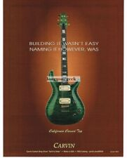 2005 CARVIN California Carved Top Green Electric Guitar Vtg Print Ad