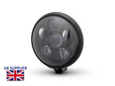 """Moto Phare Noir Brillant pour Harley Davidson - 6 """" Pouce Projecteur LED"""