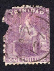 Trinidad 1861 stamp Mi#14b used defect CV=550€