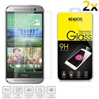 2x KHAOS Ballistic Tempered Glass Screen Protector For HTC One M8