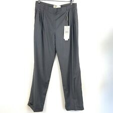 NWT Emperio Armani Men Gray Virgin Wool Slacks Dress Pants Size 46