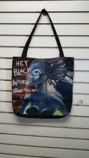 AFRICAN AMERICAN Tapestry Tote Bag Hey Black woman Just The Way/Black Americana