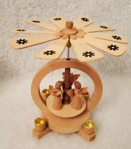 Alexander Taron Richard Glaesser Angel Carollers Wooden Circle 4 Candles
