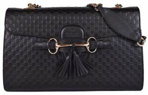 Authentic Gucci Micro GG Guccissima Leather Emily Purse Handbag - Brand New