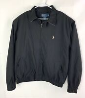Polo Ralph Lauren XL Harrington Jacket Windbreaker Black Pony Full Zip Up Men