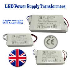 LED Driver Power Supply Transformer 240V - DC 12V Light Weight UK Lighting