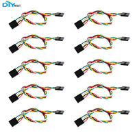 10pcs 5P 5Pin Female to Female Dupont Cable Jumper Wire F/F 200mm For Arduino