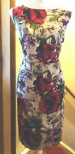 PER UNA STRETCH SATIN LINED SLEEVELESS DRESS+HALF PEPLUM 20/22 BNWT*REDUCED*