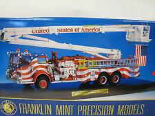 FRANKLIN MINT STARS & STRIPES PIERCE SNORKEL FIRE ENGINE 1:32 AMAZING DETAIL NIB