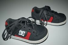 DC Shoes Dark Gray/ Red  Size 5 toddler