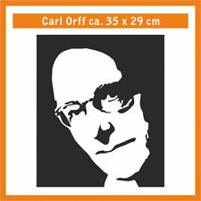 CARL ORFF Wandtatoo, ca. 35 x 29 cm, Hochleistungsfolie mit Montagepapier