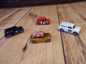 Toy Car Bundle/Lot x4 Matchbox Cars 1960's Austin Mini Cooper (Delivery Vans)