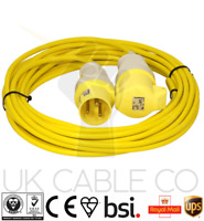 10m 110v 16A 2.5mm Site Extension Lead Yellow Arctic 110 volt 16 Amp Cable