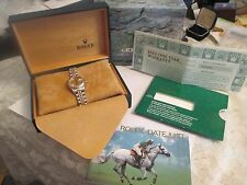 ROLEX Oyster Perpetual Date just Watch with Original  Box & Paper  Looks New