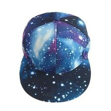 Men Women Galaxy Print Hip-hop Cap Snapback Baseball Flat Peak Adjustable Hat