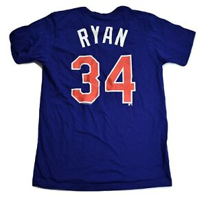 Majestic Mens MLB Cooperstown Collection Texas Rangers Nolan Ryan Shirt New S-XL