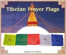 TIBETAN PRAYER FLAGS (XTRA LARGE) 28CM 10 FLAGS ON ROPE