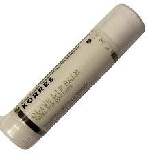 KORRES Olive Lip Balm for Dry Lips Pocket Size 4g /0.14 oz Tube Sealed