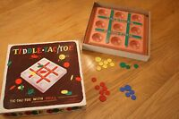 Vintage Tiddle-Tac-Toe Tic Tac Toe With Skil 1955 Original Box Collectible