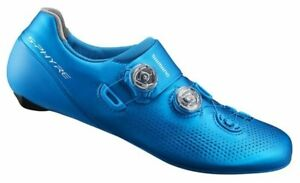 Shimano S-Phyre RC-901 Carbon Road Cycling Shoes 42.5 Blue