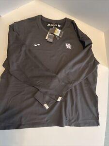 NEW Nike Kentucky Wildcats Coaches LS Pullover - Black - CQ5049-010 Sz XXXXL 4XL