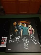 Smallville Tom Welling Erica Durance Signed Cast 16x20 Custom Canvas Jsa Gg35587