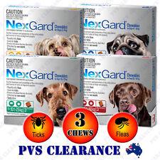 Nexgard 3 for All Size Dogs 3-Pack - Orange Blue Green Red - Nexguard Original
