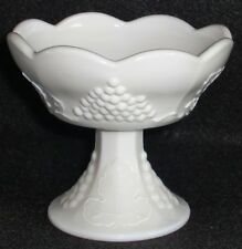Westmoreland Paneled Grape Pedistal Taper Holder with Scalloped Rim