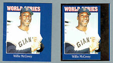 1992 (Oct) Sports Cards Progressive Proof Pair, #157, Giants' Willie McCovey