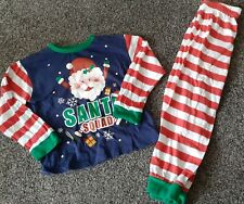 Boys Christmas  Pyjamas 4-5 Years VGC