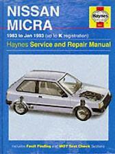NISSAN MICRA K10 1983-1993 Owners Workshop Manual Buch Reparaturbuch - sehr gut