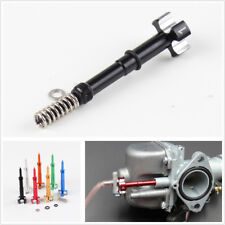 Black Metal Portable Motorcycle Bikes Carburetor Easy Adjust Fuel Mixture Screw