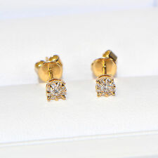Diamant Ohrstecker 0,196 ct in 750er Gelbgold (18K) Pavé Ohrringe Brillant Karat