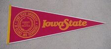 Old 1980s IOWA STATE CYCLONES College FULL SIZE PENNANT UNSOLD STOCK