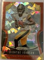 2019 Panini Prizm Diontae Johnson Red Cracked Ice Rookie Rc Steelers #352🔥🔥