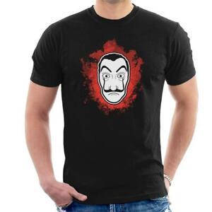 Casa De Papel Money Heist Dali Mask Splatter Men's T-Shirt