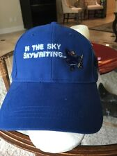 NEW IN THE SKY - SKYWRITING - ADJUSTABLE  BALL CAP HAT! BLUE